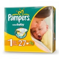 Подгузники Pampers New Baby 1 New Born ( 2-5 кг) 27 шт